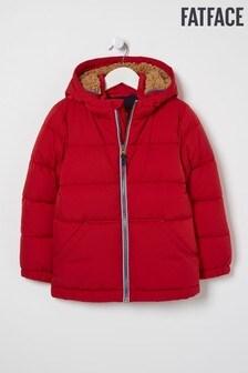 FatFace Red Ellis Bomber Jacket