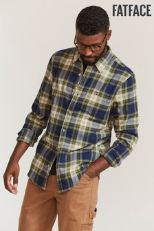 FatFace Green Bramshot Check Shirt