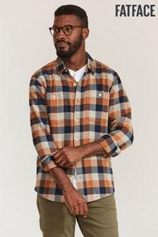 FatFace Brown Watton Check Shirt