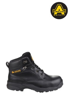 Amber Safety Black Ryton Lightweight Water-Resistant Safety Boots