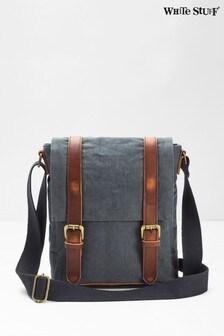 White Stuff Blue Scout Organic Cotton Crossbody Bag