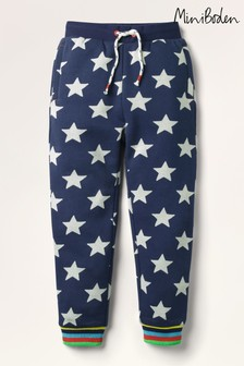 Boden Navy Printed Joggers