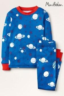 Boden Blue Glow-In-The-Dark Long Pyjamas
