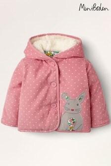 Boden Pink Cord Appliqué Coat
