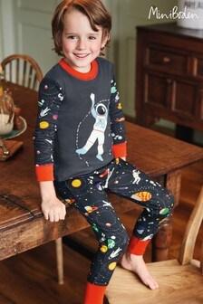 Boden Grey Cosy Long John Pyjamas