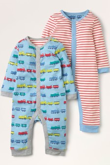 Boden Blue Rompers Twin Pack