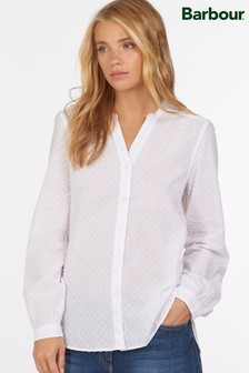 Barbour® Coastal White Textured Spot Southport Blouse