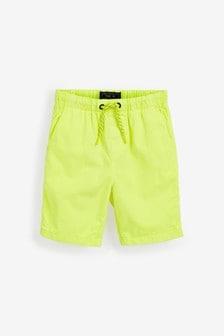 Fluro Yellow Regular Fit Pull-On Shorts (3-16yrs)