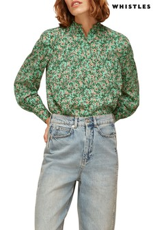 Whistles Floral Heath High Neck Top
