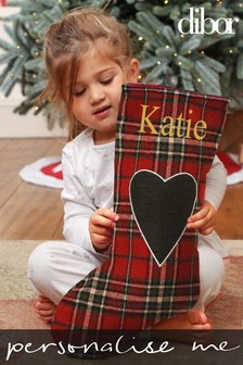 Personalised Tartan Stocking by Dibor