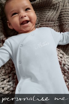 Personalised Name Embroidered Sleepsuit