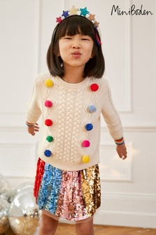 Boden Multi Rainbow Sequin Skirt