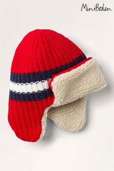Boden Red Cosy Trapper Hat