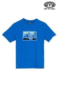 Animal Blue Retro Graphic T-Shirt