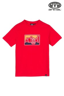 Animal Red Retro Graphic T-Shirt