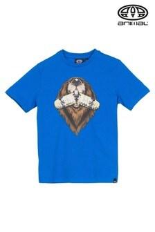 Animal Blue Graphic T-Shirt