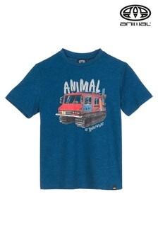 Animal Blue Marl Murphy Graphic T-Shirt