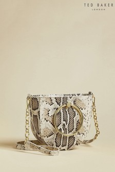 Ted Baker Nitza Imitation Snake Ring Handle Mini Cross Body Bag