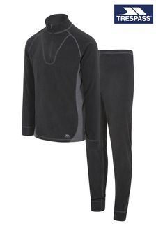Trespass Black Thriller - B Unisex M/Fleece Base Layer