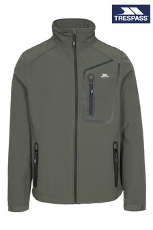 Trespass Green Hotham - Male Basic Softshell Jacket