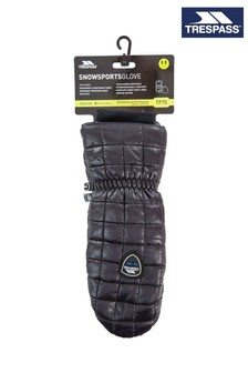 Trespass Black Pikido - Unisex Adults Mitts