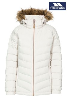 Trespass White Nadina - Female Padded Jacket