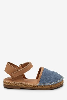 Denim Espadrille Sandals (Younger)