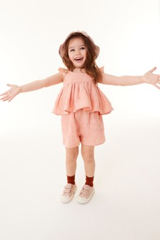 Pink Frill Blouse And Shorts Co-ord Set (3mths-7yrs)