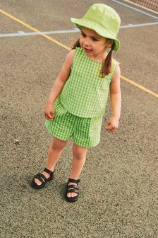 Green Gingham Blouse And Shorts Co-ord Set (3mths-7yrs)