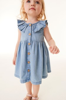 Denim Sleeveless Frill Dress (3mths-7yrs)