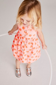 Coral Printed Organic Cotton Dress (3mths-7yrs)