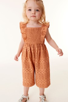 Amber Cotton Broderie Jumpsuit (3mths-7yrs)
