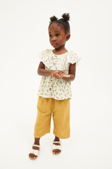 Ivory Frill Collar Ditsy Blouse (3mths-7yrs)