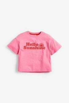 Pink Hello Sunshine T-Shirt (3-16yrs)