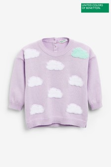 Benetton Purple Cloud Jumper
