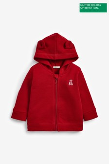 Benetton Zip Through Ears Hoodie