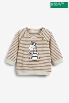 Benetton Striped Friends Long Sleeve T-Shirt