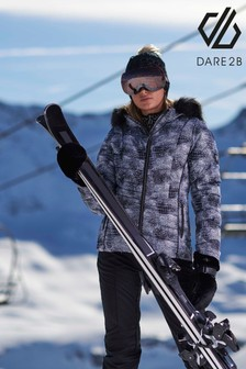 Dare 2b Black Glamorize II Waterproof Ski Jacket