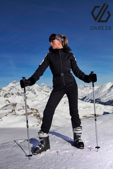 Dare 2b Black Snowfall Softshell Ski Suit