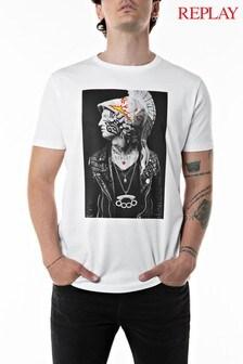 Replay® White Logo T-Shirt