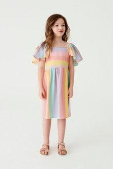 Multi Rainbow Stripe Dress (3-16yrs)