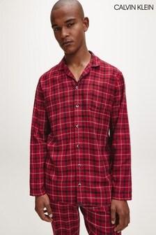 Calvin Klein Red Flannel Plaid Nightshirt