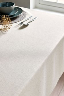 Cotton Blend With Linen Table Cloth