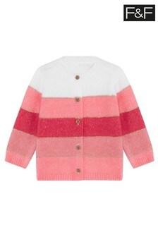 F&F Pink Colour Block Cardigan