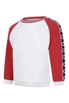 Baby Boys Ivory/Red GG Logo Sweater