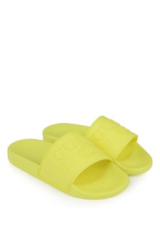 Neon Yellow Logo Sliders