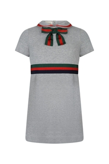 GUCCI Kids Girls Cotton Dress With Bow