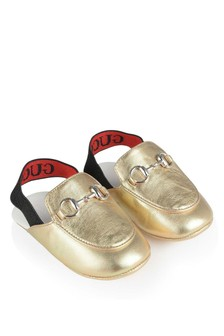 Gold Leather Pre Walkers
