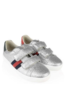Kids Ace Silver Glitter Girls Trainers