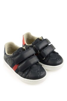 Navy GG Velcro Strap Trainers